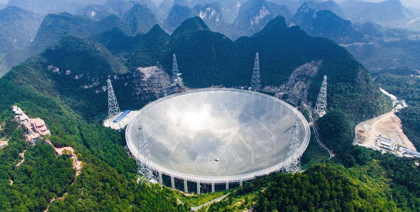 ВКитайской народной республике запустили крупнейший вмире радиотелескоп FAST