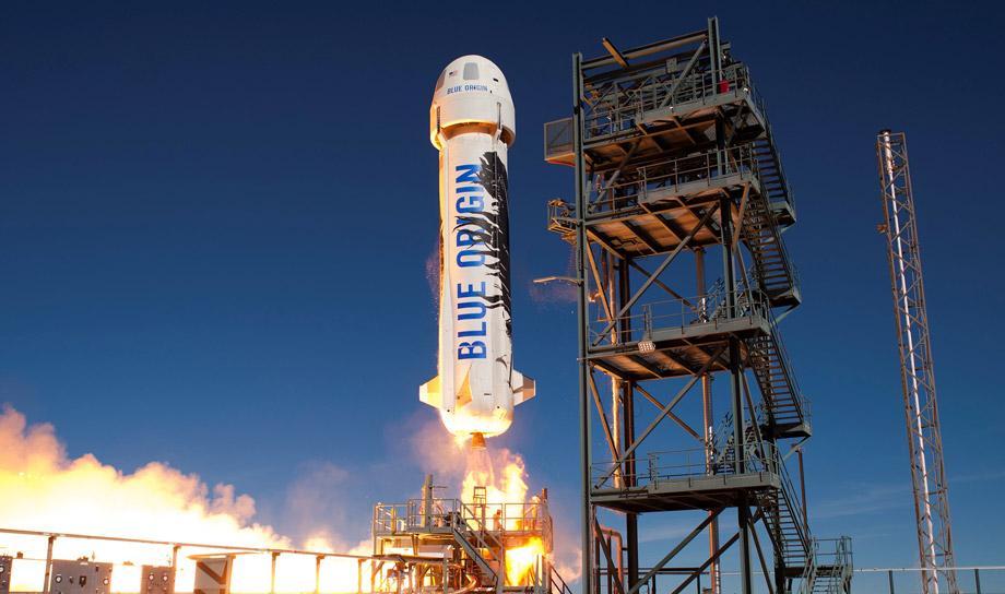 Космический корабль New Shepard в очередной раз успешно совершил взлет и благополучную посадку