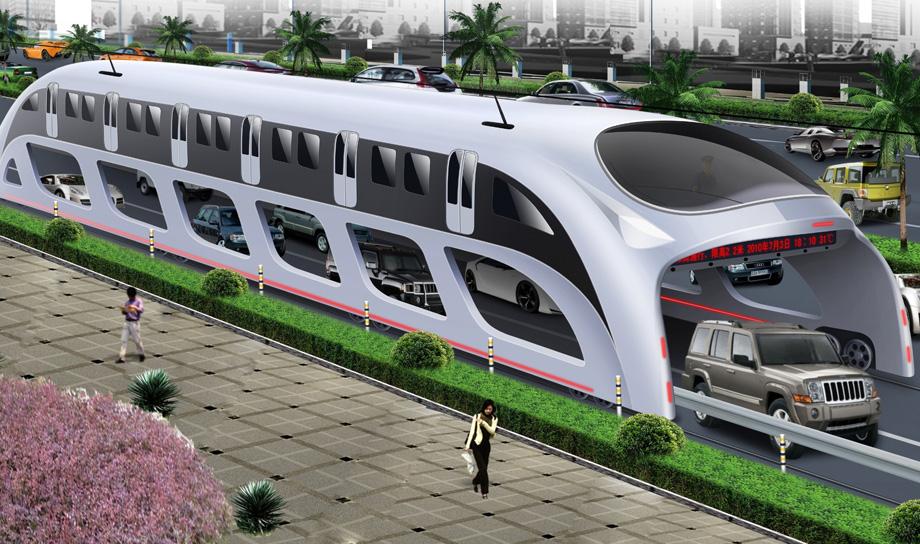 Transit Elevated Bus — надземный автобус