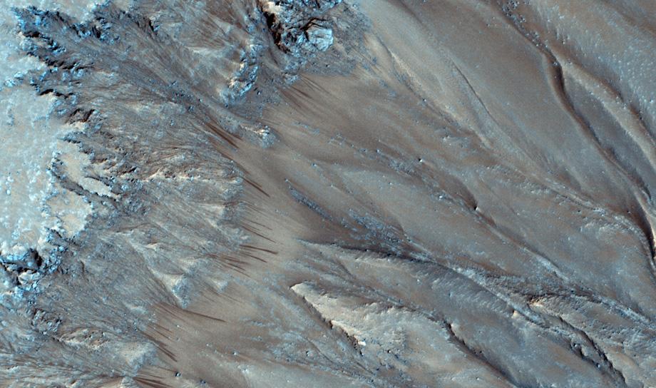 Потоки кипящей воды на Марсе