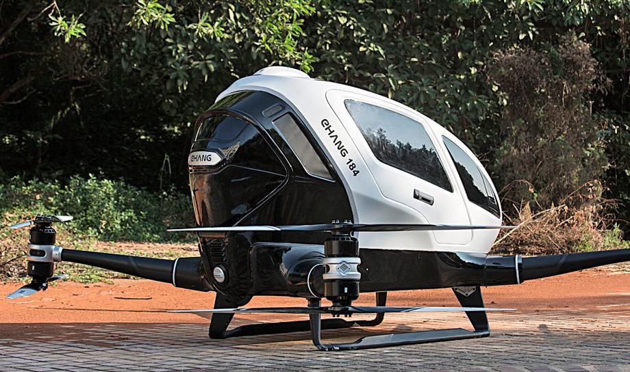 В США проходят испытания первого в мире дрона-такси