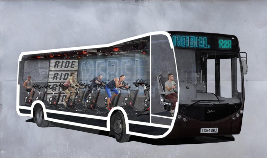 Автобус с велотренажёрами Ride 2 Rebel