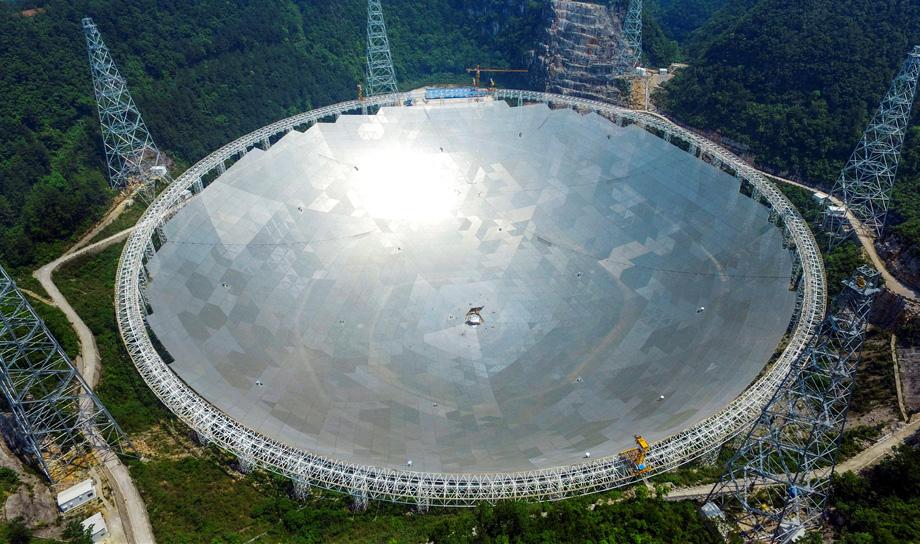 Самый большой радиотелескоп в мире построен в Китае