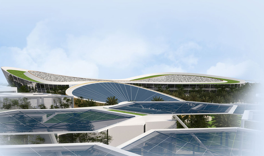 В пустыне Дубая появится эко-город в форме цветка