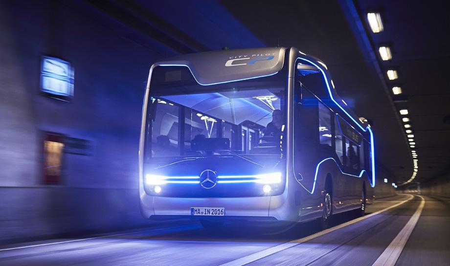 Беспилотный автобус Future Bus от компании Mercedes