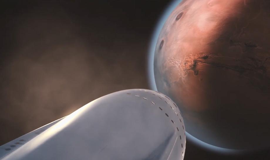 Видеоролик о системе межпланетного транспорта от SpaceX